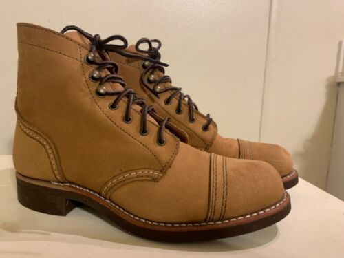 Red Wing Iron Ranger boots 6.5 Honey Chinook leath