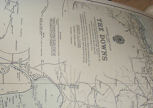 Vintage Marine chart sheet map of The Downs Goodwin sands