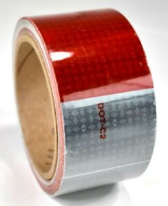 Orafol 5549 2 x 150 Roll Red and Silver DOT-C2 Conspicuity Tape Made in USA