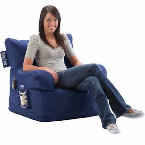Big Joe Dorm Chair Sapphire Bean Bag Furniture Indoor Stain Water Resistant