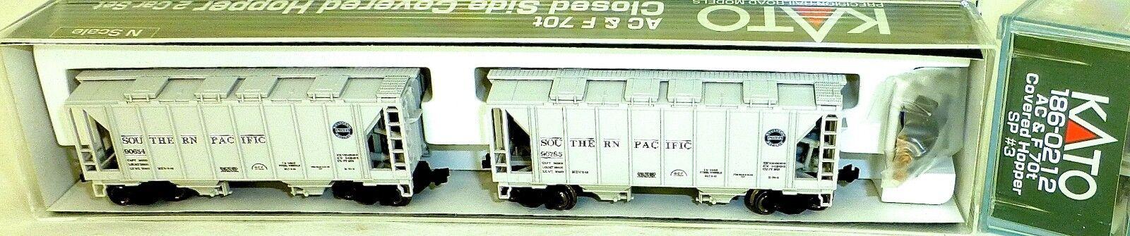 Kato 186-0212 Ac&f 70t 2 car Sp Closed Side Cougreens Trémie Emballage D'Origine