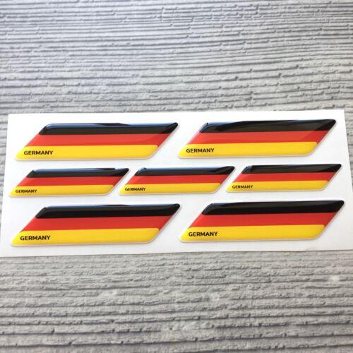 Germany German flag 3d domed emblem decal sticker BMW MERCEDES VW AUDI Porsche