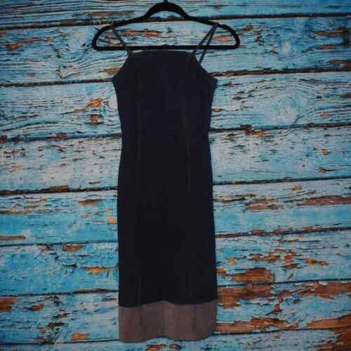 Anthropologie Dark Wash Denim Dress Size XS - image 1