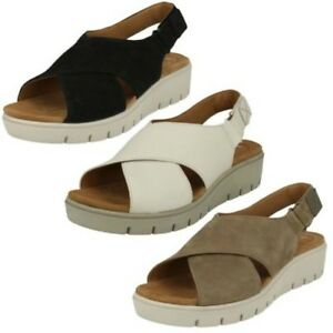 8f67190a89 Image is loading Women-Clarks-Unstructured-Slingback-Sandals-039-Un-Karely-