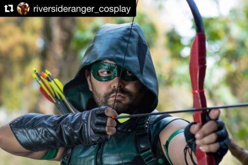 MOST Authentic TV/'s Green Arrow Costume Leather Eye Mask FREE Bonus!