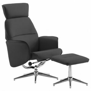 Fauteuil inclinable avec repose-pied Anthracite Similicuir