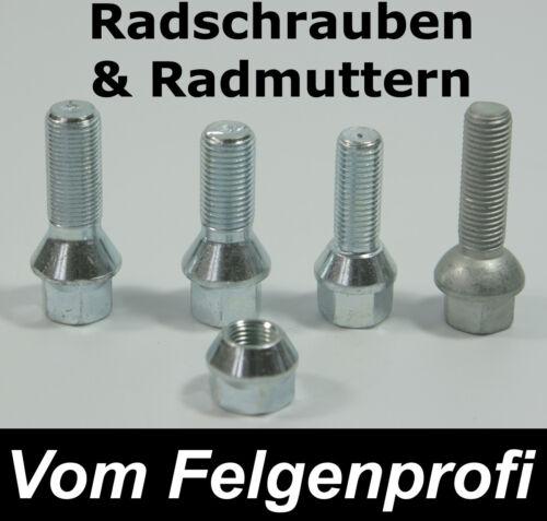 Tornillos perno de rueda set 8 piezas kegelbund m14 x 1,5 longitud 50mm