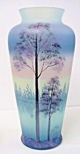 Fenton-Glass-Misty-Morn-Connoisseur-Collection-Vase-1986-Limited-To-1000