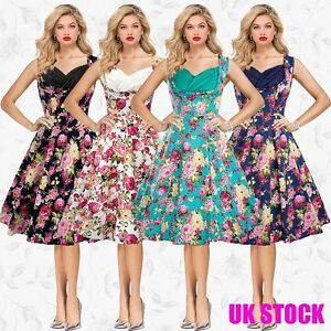 s l300 vintage clothing womens prom formal 1940s 1950s floral print party,Womens Clothing 1940s
