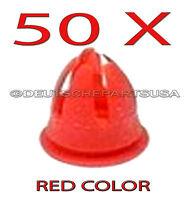 50 X Red Fender & Door Molding Trim Clips For Various Mercedes Benz 0019882081