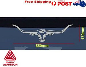 Details about SILVER /GOLD LongHorn RM Williams Decal Vinyl Stickers 55CM  Car Window Ute AVERY