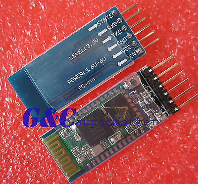2PCS  HC-05 Wireless Bluetooth RF Transceiver Module serial RS232 TTL  M42
