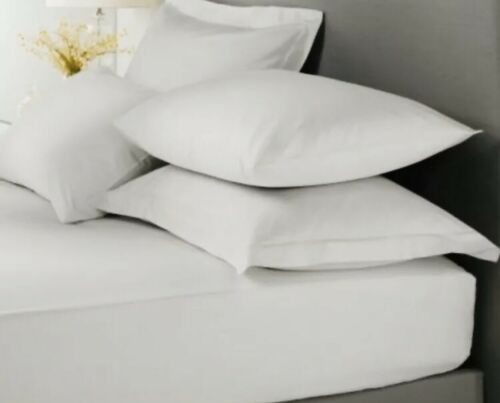 Egyptian Cotton 300 Thread Count 100/% Cotton Plain White Fitted Sheet King Size