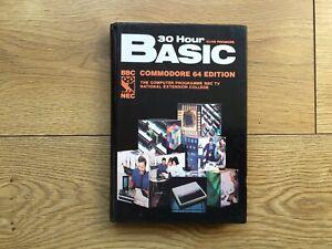 30 H Basic Commodore 64 Edition Book 1981 * Musée De Collection * Mega Rare-afficher Le Titre D'origine Blanc De Jade