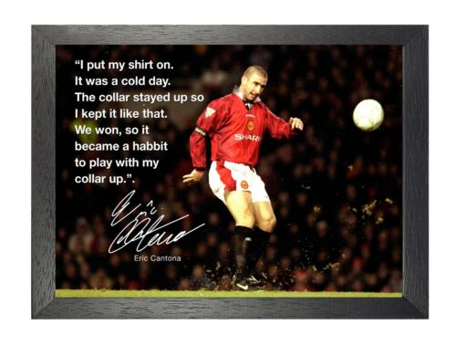 Eric Cantona 27 French Actor Professional Footballer Champion Quote Poster Print
