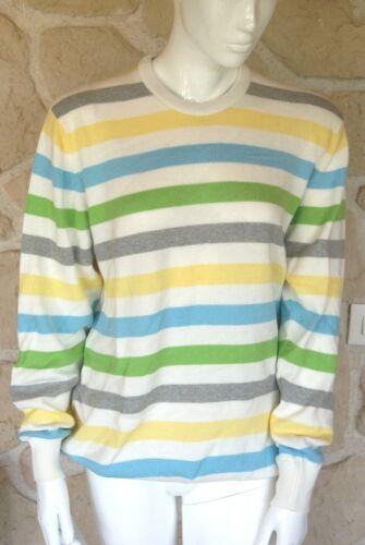 Hawick strisce Maglione bianco Brand Knitwear Xxl Size con New 0aOqpa