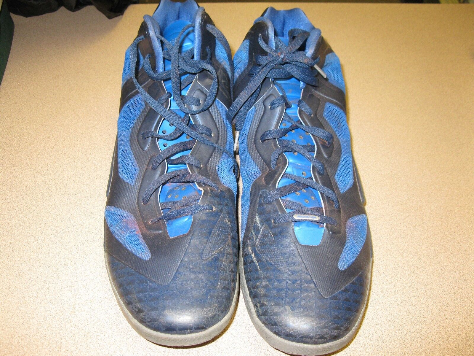Nike Zoom Hyperfuse Men's US Sz.18 Blue Premium Innovation Basketball Shoes Special limited time