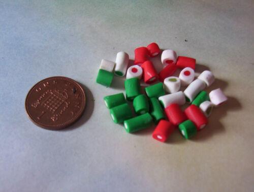 6TH Escala Navidad Miniatura Muñeca Alimentos Alimentos Caramelo Dulces