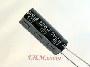 10V-2200uF-105-C-Low-Impedance-Capacitor-X-2pcs