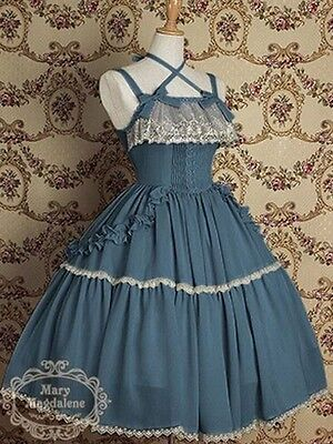 Ladies Victorian Lolita Gothic Barbie Palace Retro Sexy Sling Princess Dress