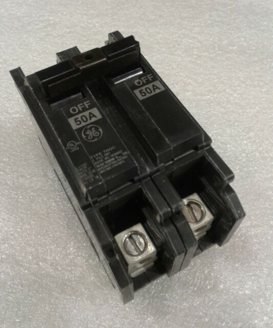 Box of 3 50 Amp THQC215... General Electric 2-Pole 120//240V Circuit Breakers