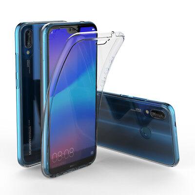 Herbests Coque pour Huawei P20,Coque Integrale Huawei P20 en Silicone, Complet Avant + Arri/ère Full-Body 360 Degr/és Coverage Protective Film de Protection,Bleu Double Faces Compl/ète Coque