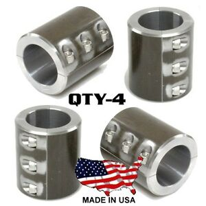 "Universal 1.5/"" Steel Bar Clamps 6 Bolt Weldable Cage Roll Bar Rack Fabrication"