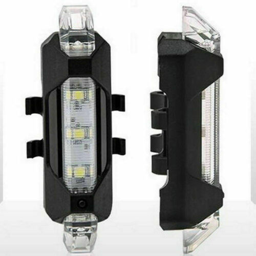 5 LED USB Rechargeable Bike Tail Light Bicycles Safety Warning Cycling Lamp H5H3