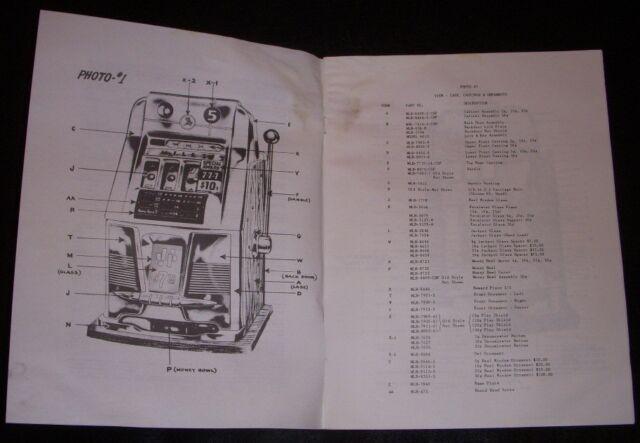 Mills parts manual for antique slot machines