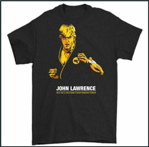 COBRA KAI T-SHIRT Karate Kid John Lawrence All Valley Karate Champion TEE TOP
