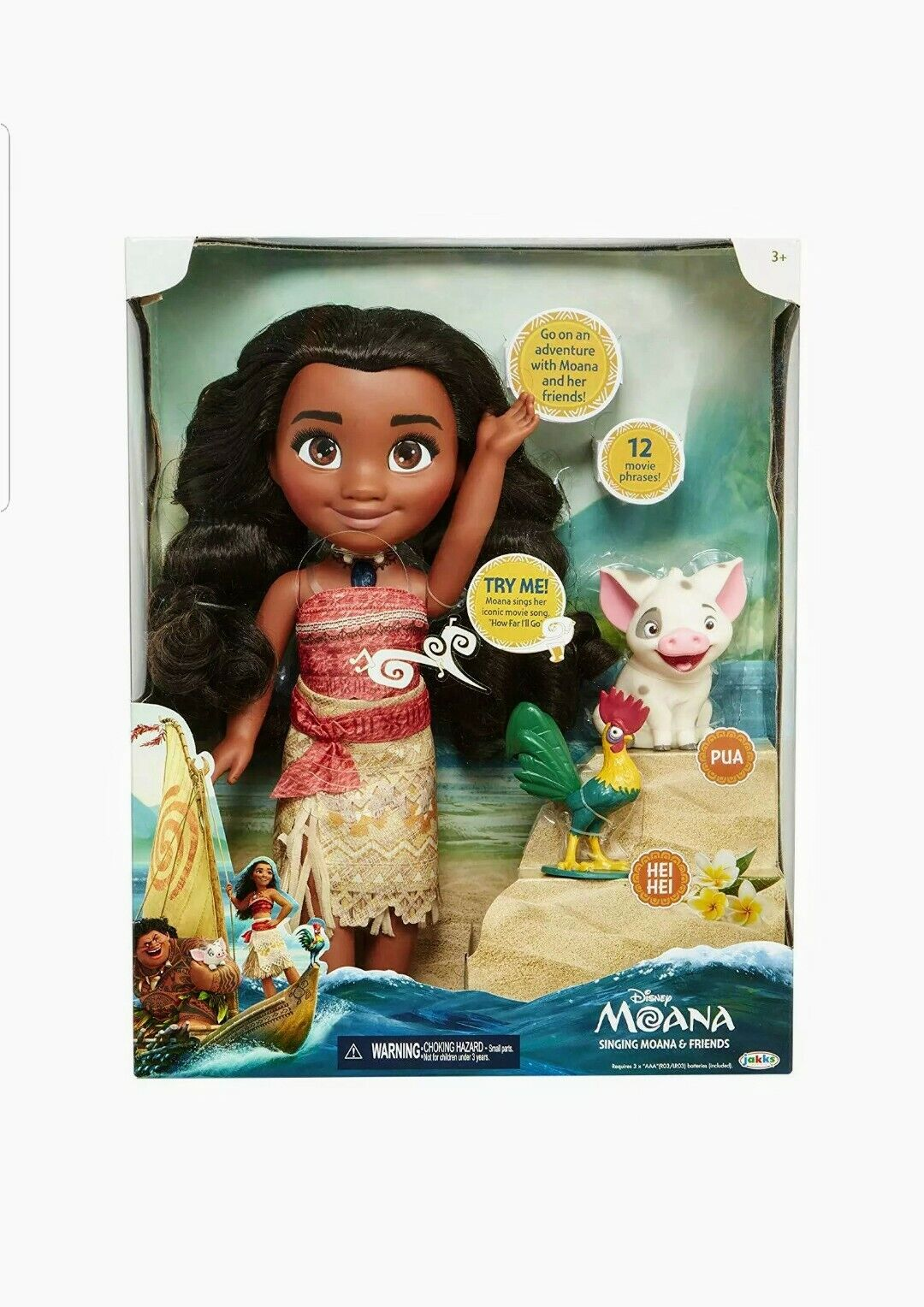 Disney Singing Moana And Friends Adventure Doll Playset New and Factory Sealed