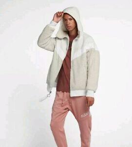 vari design brillantezza del colore prezzi al dettaglio NEW Nike Sportswear NSW Sherpa Windrunner Jacket Men's 3XL White ...
