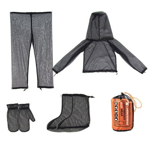 Outdoor Mosquito Bug Mesh Net Jacket Pants Suit Fishing Hiking Protect Costume