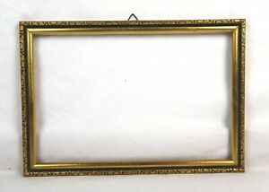 Antique-Art-Nouveau-Ornate-Gold-Gilt-Gesso-Picture-Frame-Fits-9-5-034-x-6-25-034