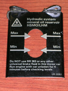 Hydraulic System Mineral Oil Level Metal Label Rolls