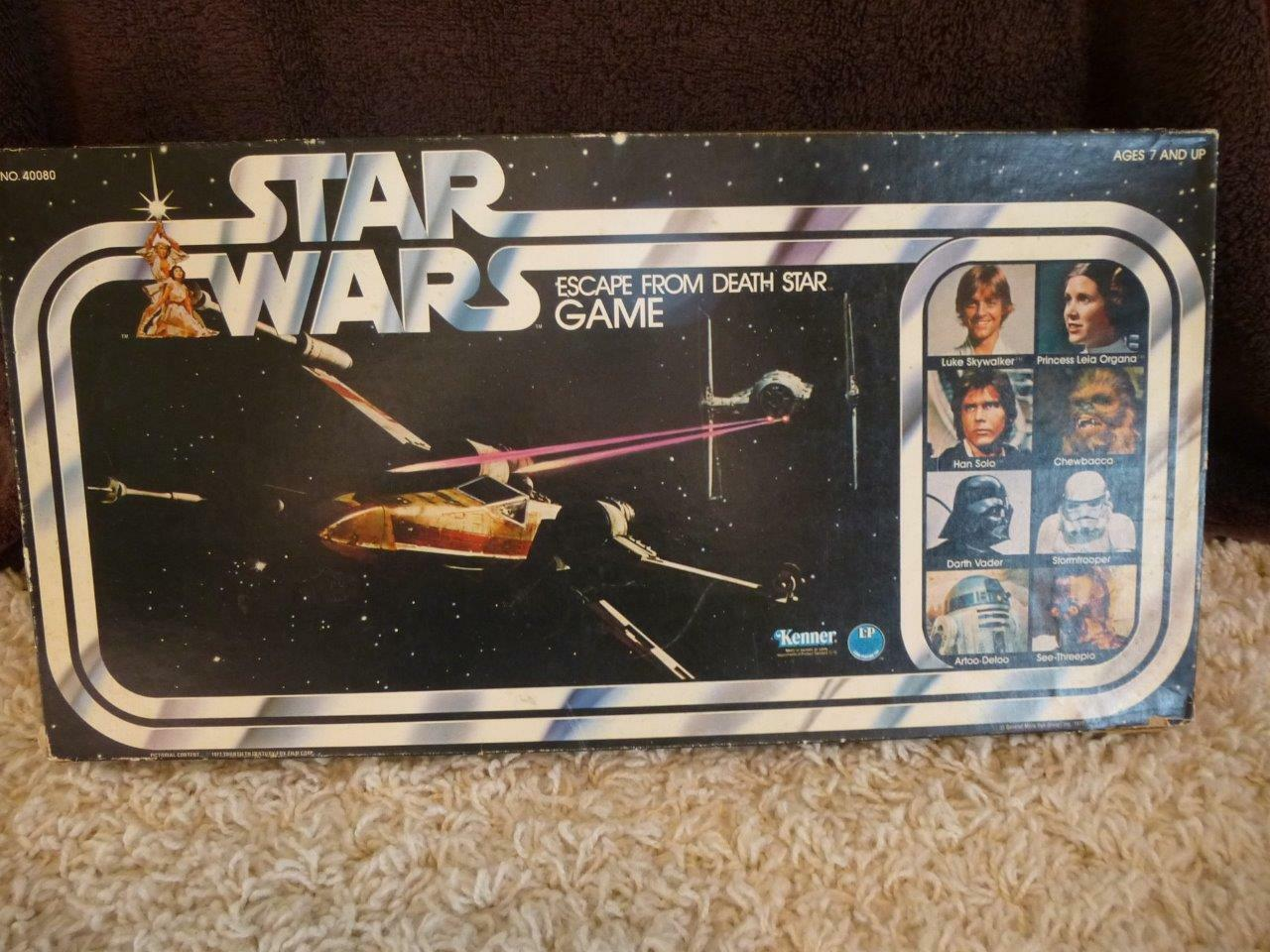Star Wars Escape From Death Star Board Game 1977 KENNER VINTAGE complet grand Cond
