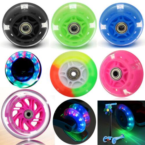 LED FLASH WHEEL Kickboard Kinder City Scooter Roller Ersatzräder ABEC-7