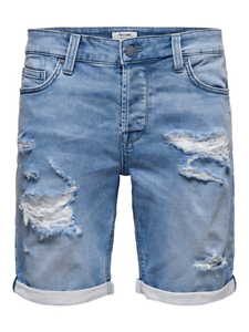 Pantaloncino-Only-amp-Sons-Uomo-Jeans-ONSPLY-REG-BLUE-DENIM-SHORT