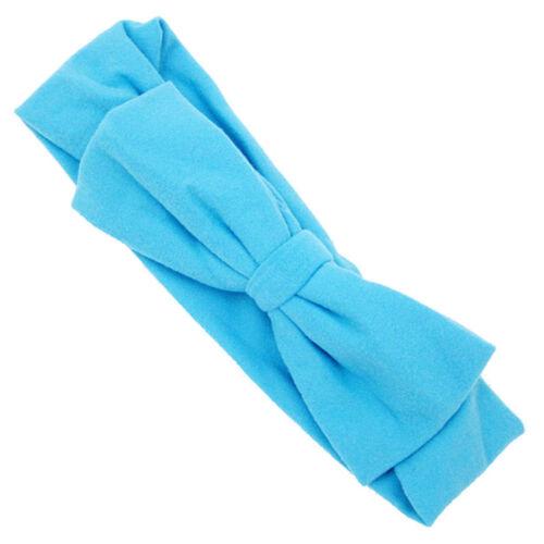 Bébé Filles Enfants Bébé Big Bow Hairband Bandeau Extensible Turban Knot Head Wrap
