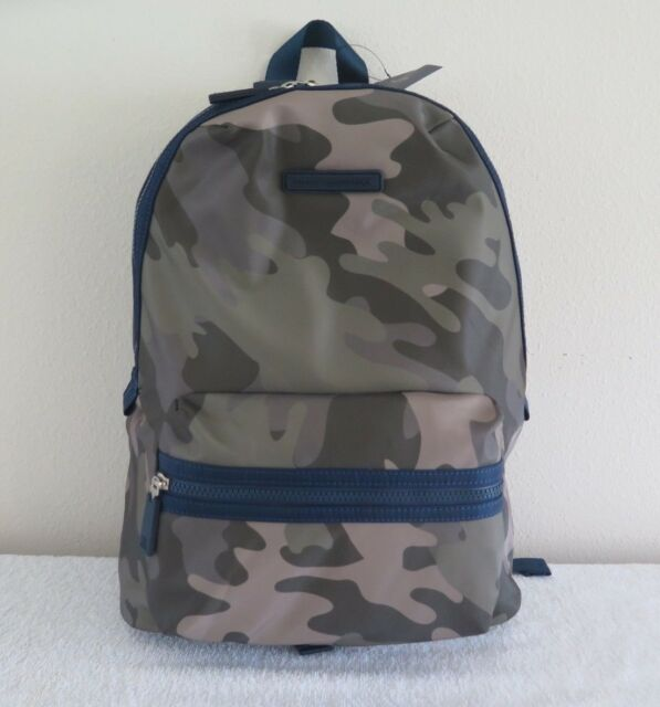 7dfc5d245999 Tommy Hilfiger Jungle Green Camo   Navy Blue Large Nylon Laptop Backpack   100