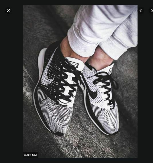 Elección Aguanieve construcción  Nike Flyknit Racer Black White Volt Ying Yang Mens Running Shoes ...
