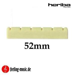 Heriba-Sattel-fuer-Konzertgitarre-Ersatzteil-52mm-breit-vorgekerbt
