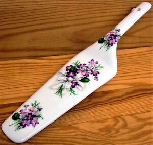 Sweet-violetas-Torta-Servidor-Porcelana-Fina-Pastel-Tarta-Pastel-servidor-Rebanada-violetas