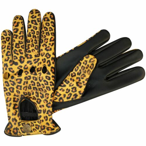 Prime Quality Men/'s Driving Fashion Dressing Slim Fit Leopard Style Gloves 507