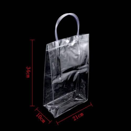1 Pc Clear Stadium Approved Tote Bag Transparent Purse Shoulder PVC Handbag