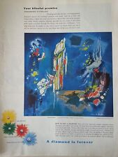 1959 Debeers Gloriou Moment Abstract Painting By Jean De Botton Original Ad