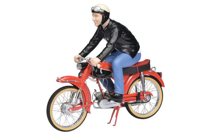 Victoria Avanti rot mit Fahrerfigur Maßstab 1 10  von Schuco - NEU  | Einfach zu bedienen