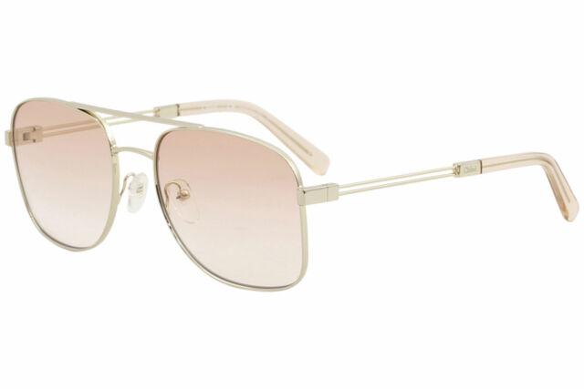 f6663292 Chloe Women's CE2133S CE/2133/S 724 Gold Peach Fashion Pilot Sunglasses 55mm