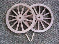Wagon & Cannon Wheels - 8 Inch Diameter Oak - Mini Civil War Cart Firing Cannon