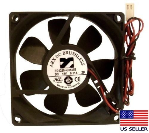 ARX 2-Pin 80mm x 25mm 12V Low Noise Case Fan